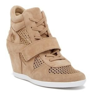 ASH Bowie Mesh Suede Leather Wedge Sneakers